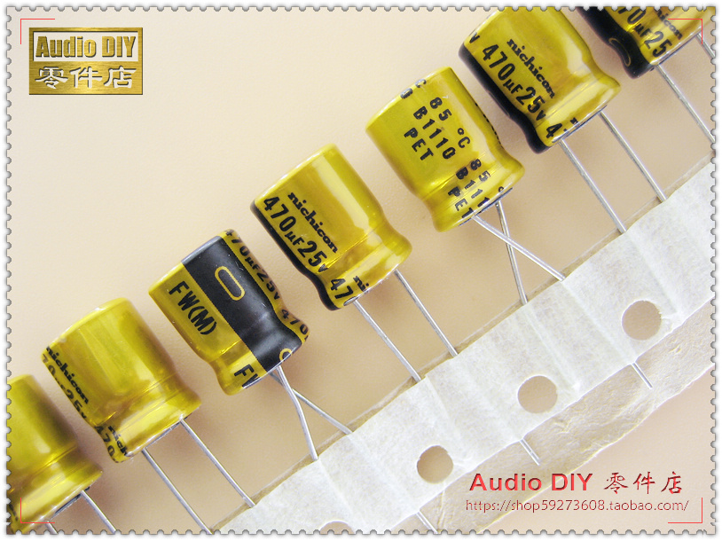 2019 Hot Sale 10pcs/30pcs Nichicon FW Series 470uF/25V Electrolytic Capacitor For Audio Free Shipping