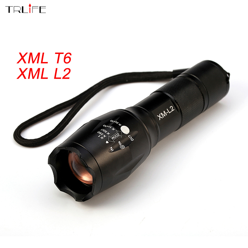 8000LM CREE XML T6/L2 Tactical LED Flashlight Torch Zoomable Flash Light Lamp Lantern For 3xAAA or 1x 18650 Rechargeable powerful led flashlight 1603 38 cree xm l2 xml t6 lantern rechargeable torch zoomable waterproof 18650 battery lamp hand light page 5