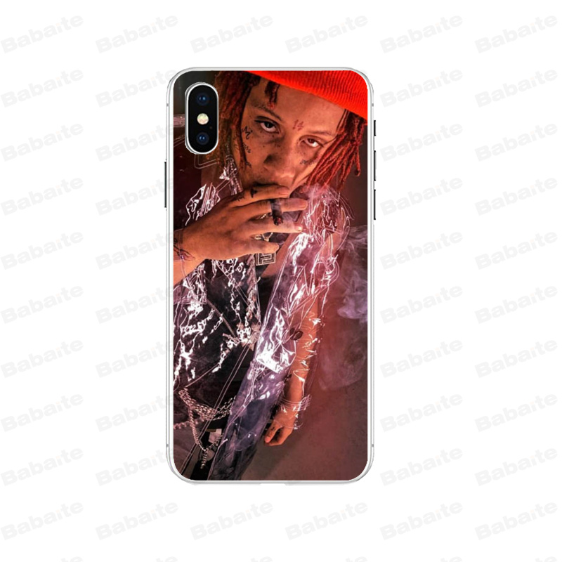 Babaite Trippie Redd Novelty Fundas Phone Case Cover for iPhone 7 7plus 5 5Sx 6 8 8Plus X XS MAX XR in Half wrapped Cases from Cellphones Telecommunications