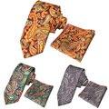 Men Quality Cotton Paisley Necktie Tie Hanky Pocket Square Handkerchief  Set Hot  BWTYX0153