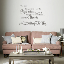 Stickers Quote The Best Thing in Life Vinyl Wall Decal Art Decor Living Room Poster Home House Decoration
