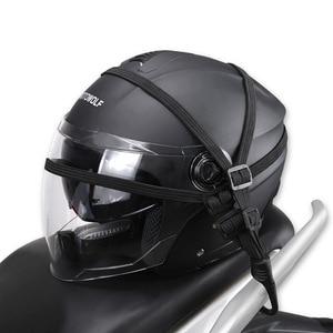 Practical Moto Luggage Helmet Net Rope Belt Bungee Cord Elastic Strap Cable with Hook Motorcycle String Bag Refit Accesorries(China)