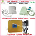 LCD High Gain 65dB Dual band GSM DCS signal booster GSM 900MHz 4G 1800MHz Mobile Phone Signal Repeater GSM 900 1800 Amplifier
