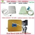 LCD de Alto Ganho 65dB Dual band GSM DCS sinal de reforço GSM 900 MHz 4G 1800 MHz Repetidor de Sinal de Telefone Móvel GSM 900 1800 Amplificador