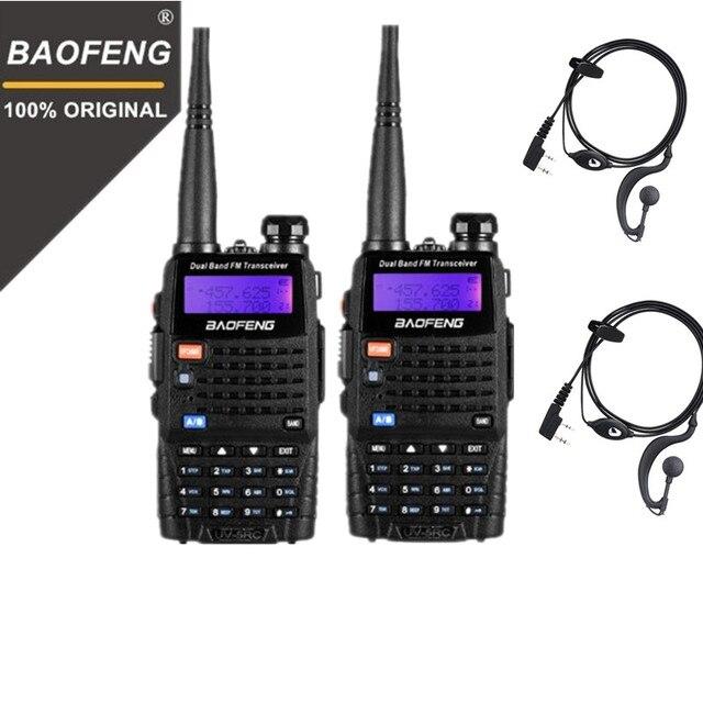 BaoFeng Walkie talkie UV 5RC 5W de alta potencia, banda Dual, Radio portátil, comunicador bidireccional HF, transceptor, aficionado, práctico, 2 uds.