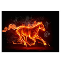 Fire horse 75x54cm Full drill diamond embroidery 3d diamond cross stitch fashion diamond mosaic pictures of rhinestones