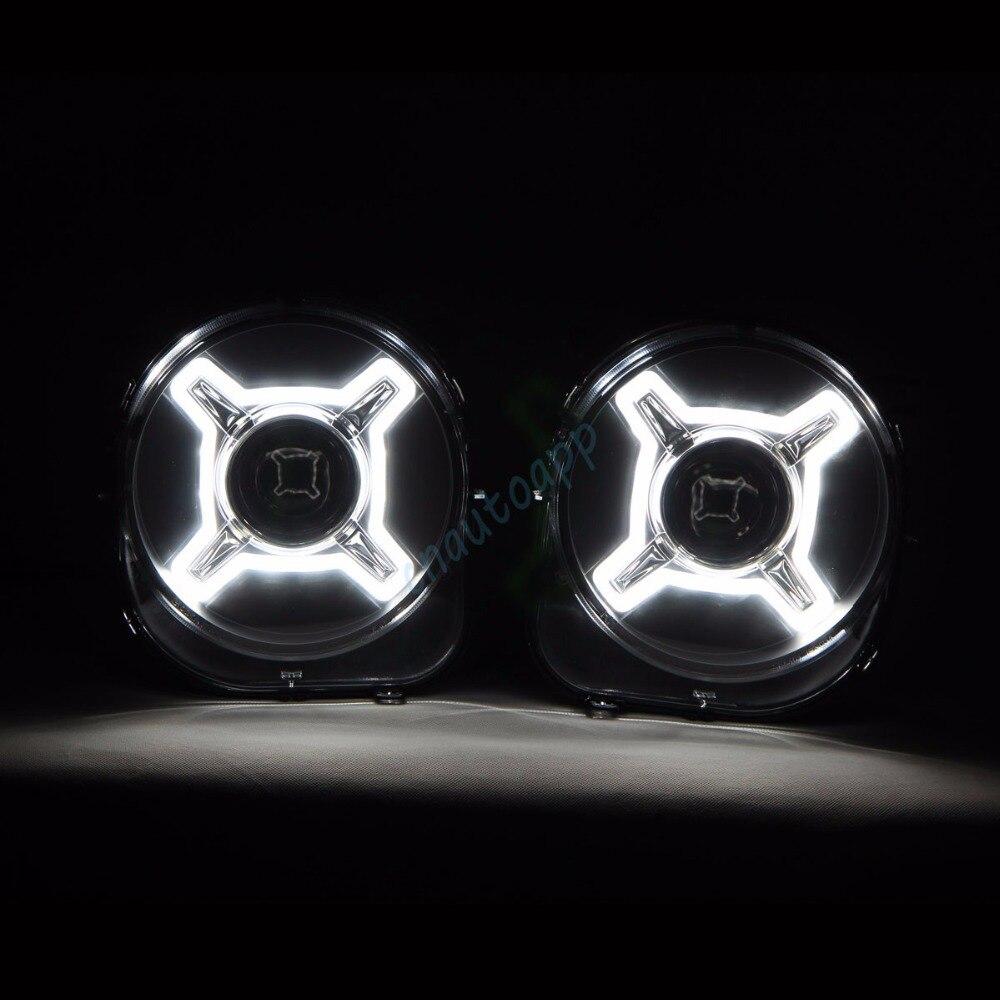Светодиодные фары автомобиля проектор offroad света hid Hi/Lo луч объектив лампа авто объектив фара для 2016 2017 джип Ренегат