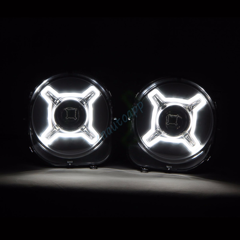 LED Car Headlight Projector Offroad Light HID Hi/Lo Beam Lens Lamp Auto Lens headlight For 2016-2017 Jeep Renegade