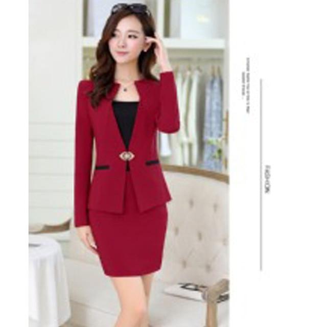 a5786131b Mujeres Profesionales nuevos pantalones de invierno traje pantalones rojos trajes  para mujeres pantalón conjunto formal (