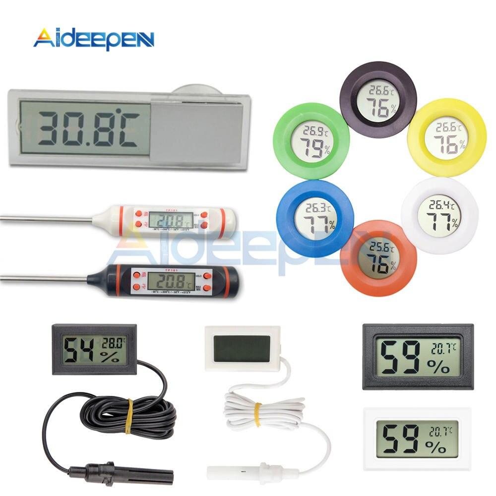 Mini Digital Thermometer Hygrometer Electronic LCD Indoor Temperature Humidity Meter Gauge Food Thermometer Car Thermometer
