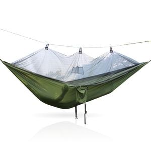 Image 3 - 超軽量パラシュートハンモック狩猟蚊帳hamac旅行ダブル人hamak用家具ハンモック