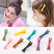 10 PCS  Color Candy Hair Clips Alloy Girl Hairpin Cross Clamp Clip Pin Fashion Hairclips