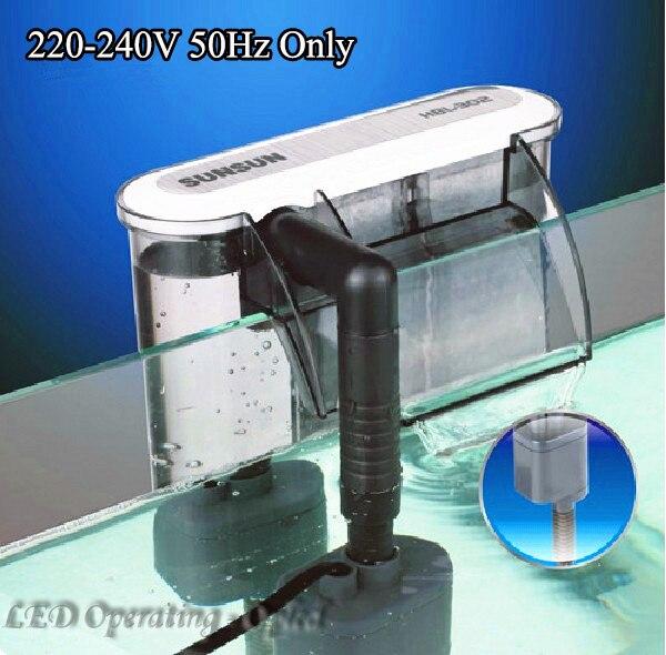 Super 3W External Aquarium Filter Box Waterfall Water