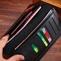 Новый популярный длинный кошелек, мужской кошелек, кожаный компактный кошелек, вместительный кошелек, мужской кошелек
