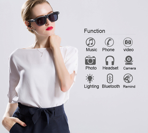 Image 3 - New Multifunction Bluetooth glasses Support to listen to music and call  720p video glasses Built in 32G storage LED light