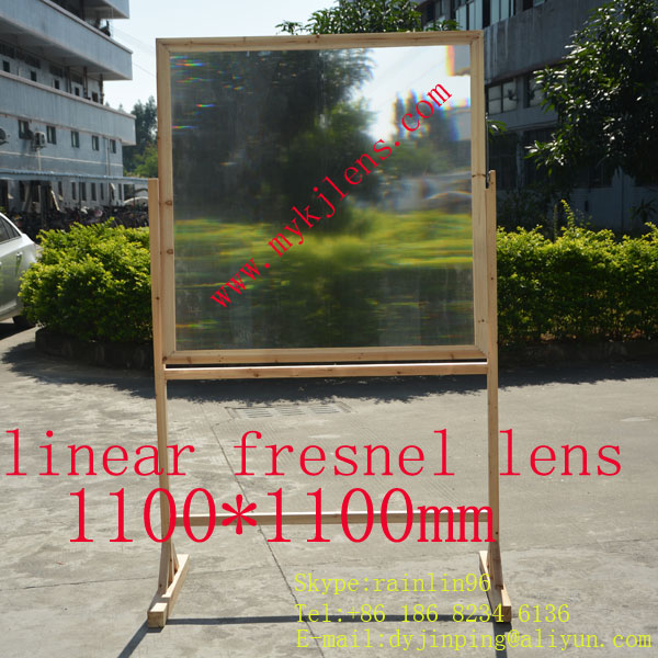 1100*1100mmF1500mm linear fresnel <font><b>lens</b></font> for solar energy free shipping, focal is a line,super <font><b>big</b></font> <font><b>lens</b></font> for soler energy image