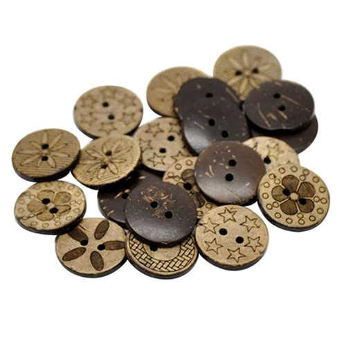 جديد! 50 قطعة نمط مختلطة جوز الهند قذيفة 2 ثقوب أزرار خياطة scrapبها بنفسك سكرابوكينغ 18 مللي متر AC16