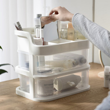Transparent drawer cosmetic storage box home desktop dressing table cos