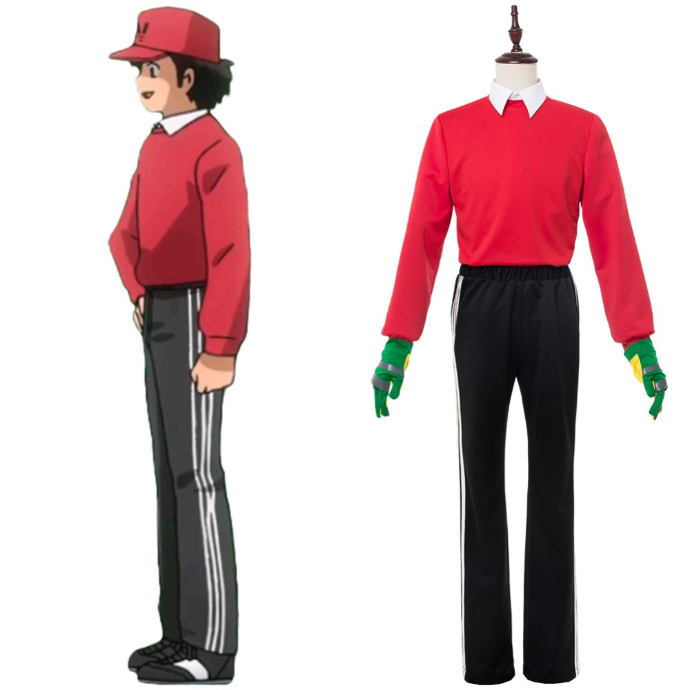 Captain Tsubasa Cosplay 2018 Genzo Wakabayashi Red Costumes Uniform Halloween Carnival Cosplay Costumes все цены