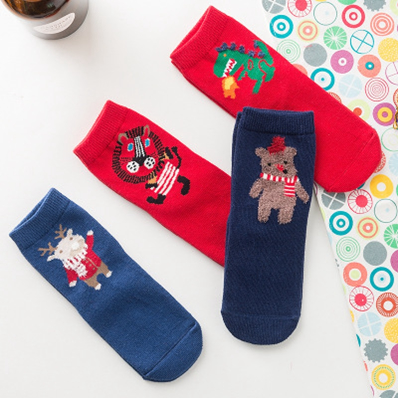 2017 new Christmas baby socks girl & boy socks 4 pairs of bags to sell, gifts Christmas socks baby love lch072