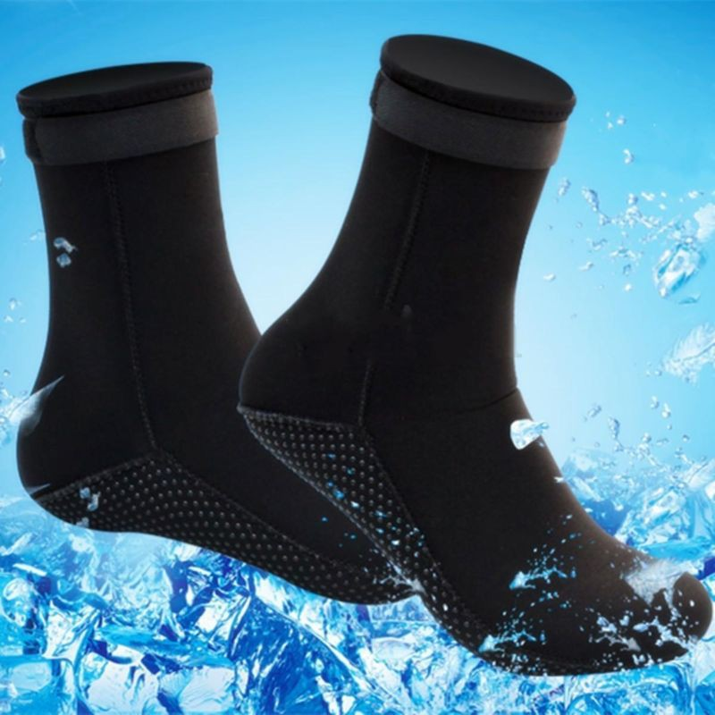 1 Pair Swimming Seaside Scuba Socks Wetsuit Neoprene Diving Socks Prevent Scratches Warming Snorkeling Socks Beach Boots M L XL