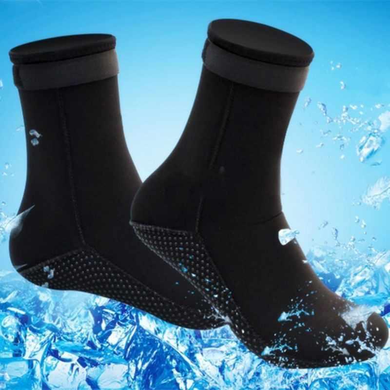 3 مللي متر السباحة شاطئ البحر الغوص الجوارب بدلة غطس مصنوعة من المطاط الصناعي جوارب الغوص منع الخدوش الاحترار الغوص الجوارب الشاطئ الأحذية دائم