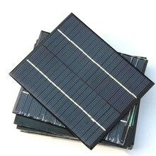Эпоксидной солнечных батарей модуль 2 Вт 18 В поликристаллического Панели солнечные для 12 В Батарея Зарядное устройство DIY Системы образование 136*110 мм