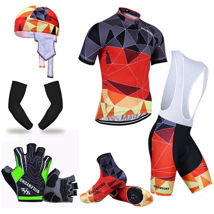 ФОТО Siilenyond Summer Big Cycling Set ! 2017 MTB Bike Clothing Racing Bicycle Clothes Maillot Ropa Ciclismo Cycling Jersey Sets
