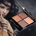 MIXIU Bright 4Colors Matte Silky Smooth Eyeshadow Palette Natural Nude Waterproof Powder Make Up Collection with Brush Maquiagem