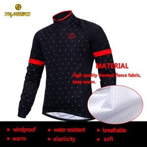Image 5 - YKYWBIKE veste de cyclisme hommes hiver vêtements imperméables thermique polaire veste à manches longues haut de haute qualité avec 10 °c gamme