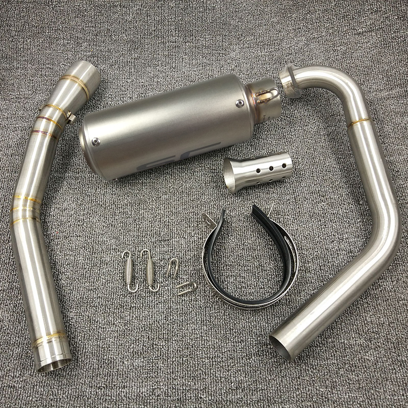 YZF R15 MT15 Full Set Modify Exhaust Muffler Middle Link Pipe Stainless Steel For YZF R15 MT-15 2008-2017 MT 125 (14)