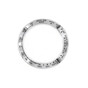 Image 5 - Rolamy 卸売高品質 316L ステンレス鋼シルバー黒文章 38.6 ミリメートル時計用 116500 116520