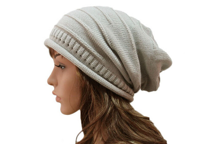 10pcs 2017Unisex Knitted Slouch Hat Mens Winter Hats Womens Slouchy Knit Beanies  Ladies Crochet Slouch Beanie Skullcap Baggy Hat a80498f5271