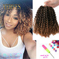 3pcs/set synthetic Kinky Twist crochet braids hair blonde 8 inch kinky style ombre braiding hair curly Crochet Hair Extensions