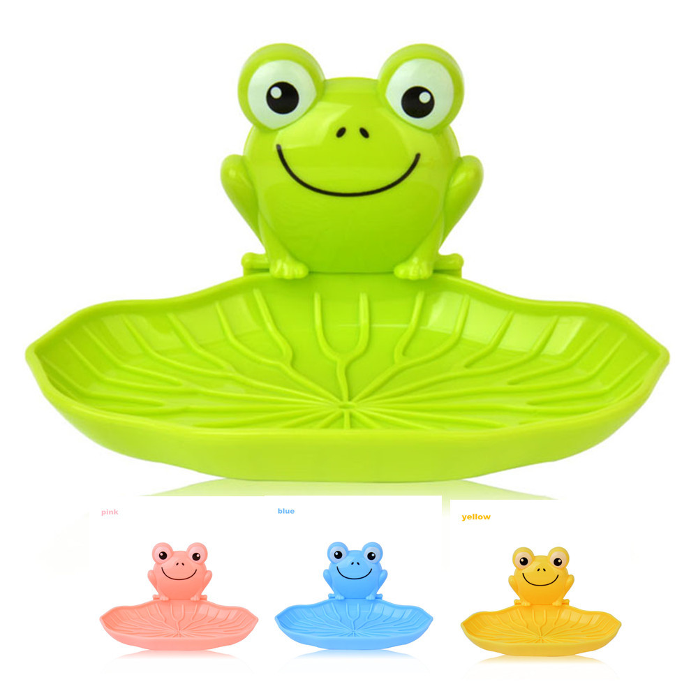 aliexpress com buy cute frog wall mounted soap dish organizer