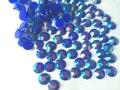 6mm Jelly Blue AB Color SS30 crystal Resin rhinestones flatback Nail Art Rhinestones,10,000pcs/bag