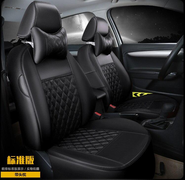 Automobile seggiolino auto copre cuscino in pelle per MITSUBISHI lancer ex V3/5/6 Pajero Sport Outlander V73 V77 Grandis EVO IX dx 7