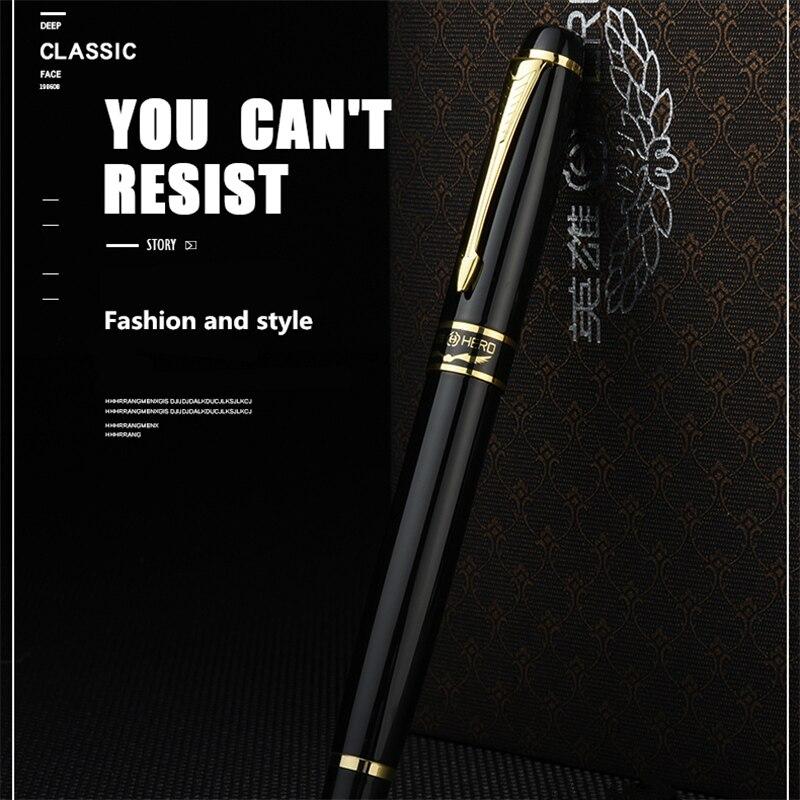 Hero 1501 Golden Eagle Fountain Pen Standard F nib Black bag packing high-grade gift pen genium hero 100 pen total steeless 14k golden fine nib fountain pen