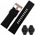 AOTU Watchband Quality Silicone Rubber Watch band For Diesel DZMC0001 Sports Strap 26mm Black Silicone Bracelet+ Tools