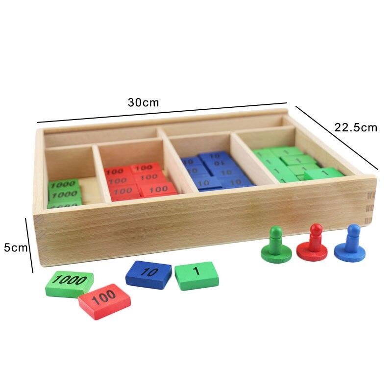 Montessori jouets en bois Montessori timbre jeu Montessori mathématiques matériaux d'apprentissage fournitures pour enfants Juguetes Brinquedos YG1064H - 5