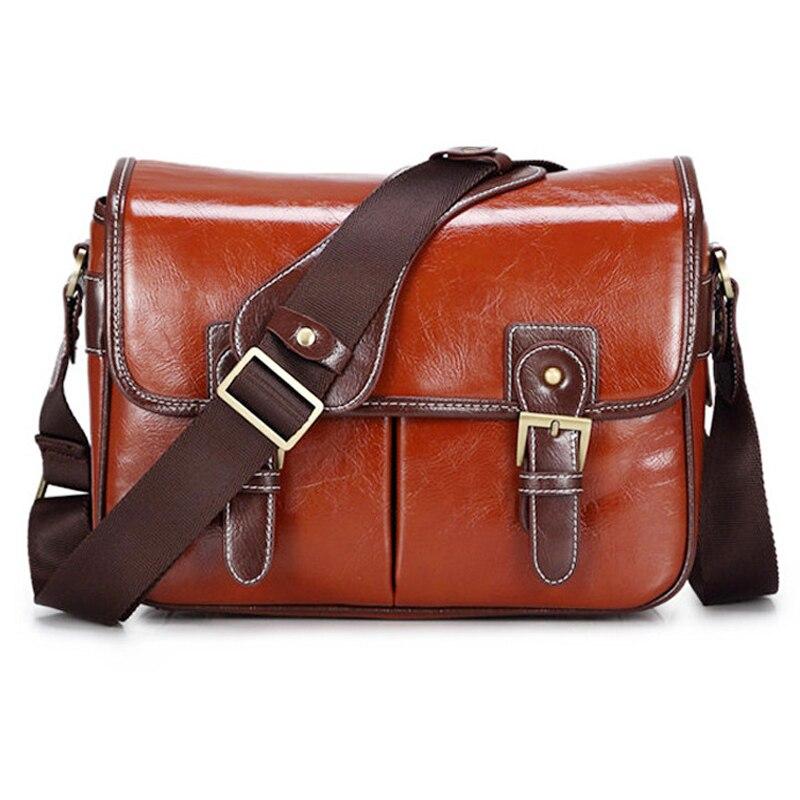 Étui de luxe pour appareil photo sac à main étanche à l'épaule Messenger élégant sac mode rétro en cuir PU DSLR étui Gadget sac