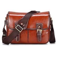 Luxury Camera Case Handbag Waterproof Shoulder Messenger Stylish Bag Fashion Retro PU Leather DSLR Case Gadget Bag