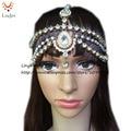 HC-160 Completo cabeza De Diamante de Cristal venda del pelo de la Joyería nupcial de la boda head, boho de cumpleaños