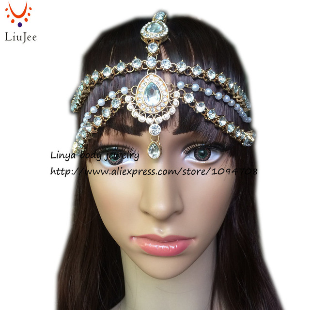 HC 160 Full Crystal Diamante head band hair jewelry wedding bridal