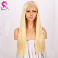 150% Density 613 Blonde Full Lace Human Hair Wigs With Baby Hair Eva Hair Straight Brazilian Virgin Hair Lace Wigs Pre Plucked