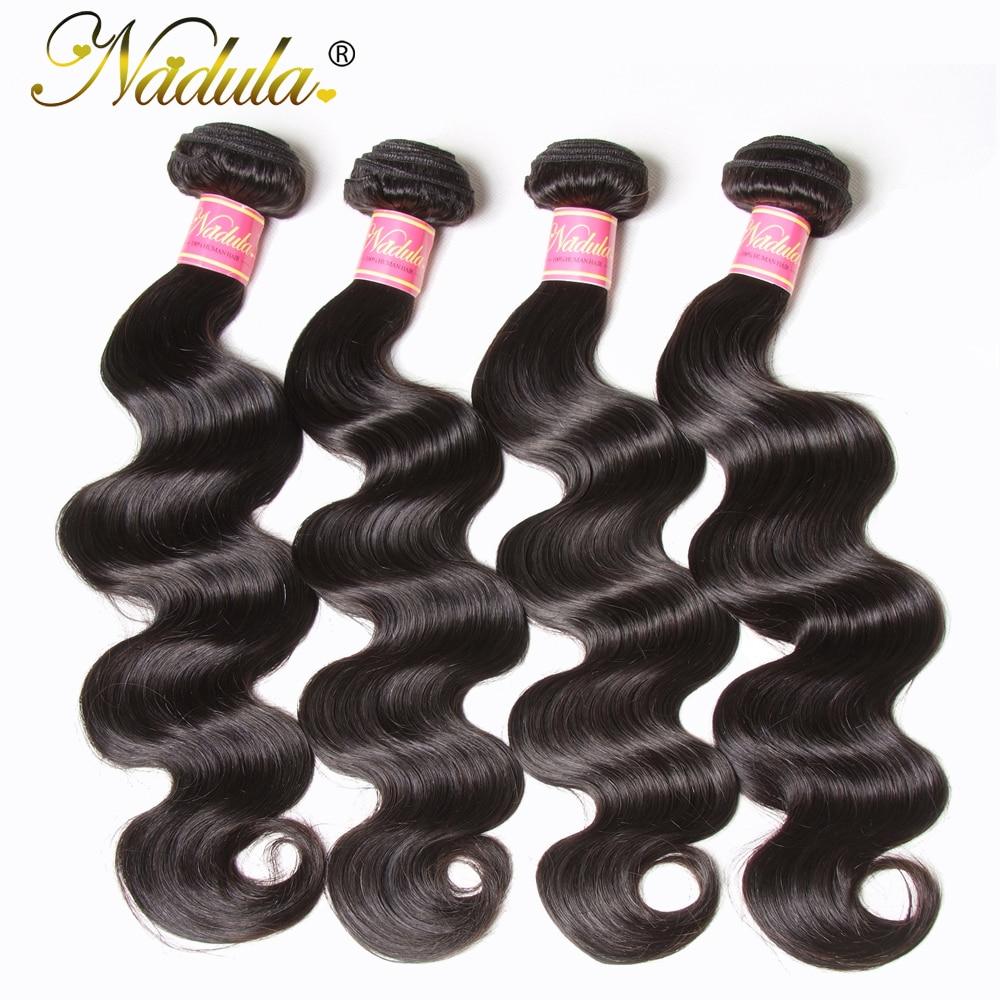 Nadula Hair 4 Bundles Peruvian Body Wave Hair 100 Human Hair Weaves 8 30inch Natural Color