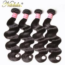 Nadula Hair 4 Bundles Peruvian Body Wave Hair 100% Human Hair Weaves 8 30inch Natural Color Remy Hair Extensions