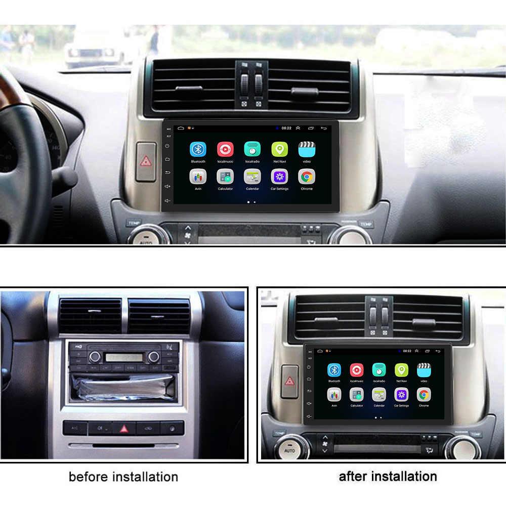 Podofo Android 9.1 2 Din araba radyo multimedya GPS Player 2DIN 2.5D evrensel Volkswagen Nissan Hyundai Kia toyota LADA ford