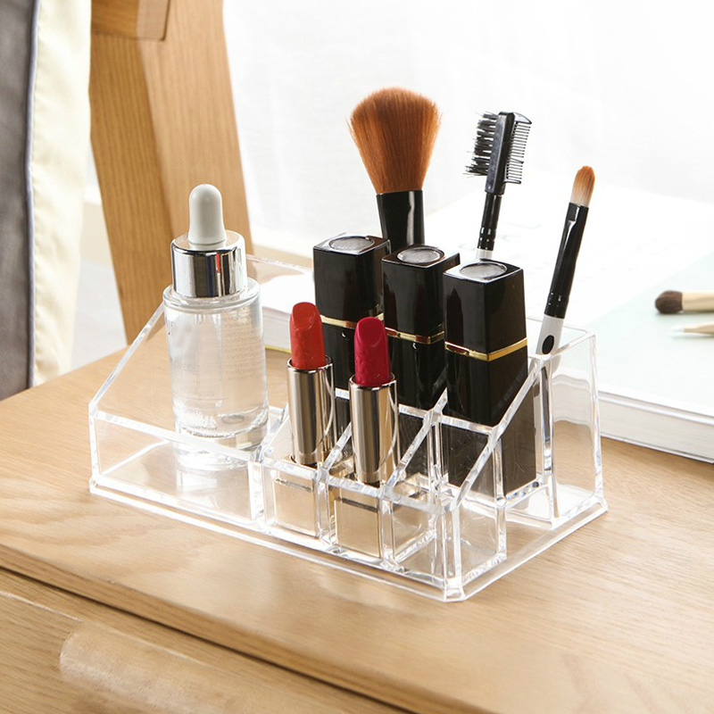 Good BAKINGCHEF Transparent Plastic Cosmetic Box Lipstick Perfume Cream Makeup  Brush Storage Organizer Accessories Supplies Gear Case In Storage Boxes U0026  Bins ...