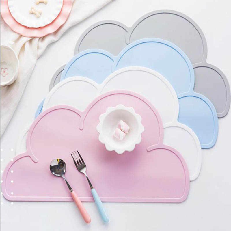 1 шт. в форме облака коврик для тарелок для детей пищевой силиконовый Настольный коврик водонепроницаемый Теплоизоляционный кухонный гаджет легкая чистка